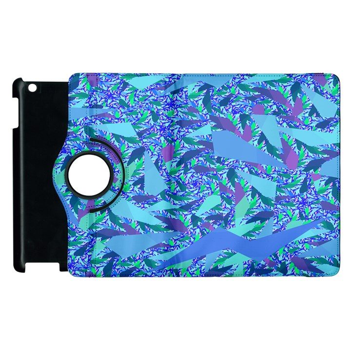 Blue Confetti Storm Apple iPad 3/4 Flip 360 Case