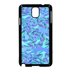 Blue Confetti Storm Samsung Galaxy Note 3 Neo Hardshell Case (Black)