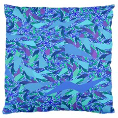 Blue Confetti Storm Standard Flano Cushion Case (One Side)