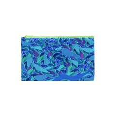 Blue Confetti Storm Cosmetic Bag (XS)