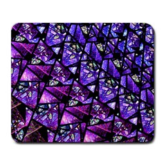Blue Purple Glass Large Mouse Pad (rectangle)