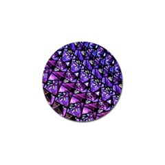 Blue Purple Glass Golf Ball Marker 10 Pack