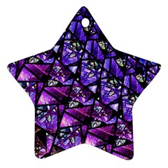Blue Purple Glass Star Ornament (two Sides)