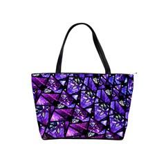 Blue Purple Glass Large Shoulder Bag