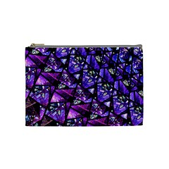Blue Purple Glass Cosmetic Bag (medium)