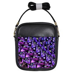 Blue Purple Glass Girl s Sling Bag