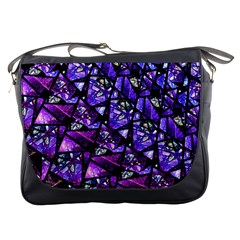 Blue purple Glass Messenger Bag