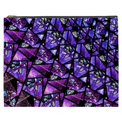Blue Purple Glass Cosmetic Bag (xxxl)