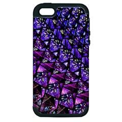 Blue Purple Glass Apple Iphone 5 Hardshell Case (pc+silicone)