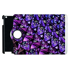 Blue purple Glass Apple iPad 2 Flip 360 Case
