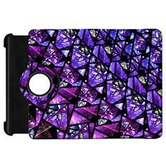 Blue Purple Glass Kindle Fire Hd Flip 360 Case