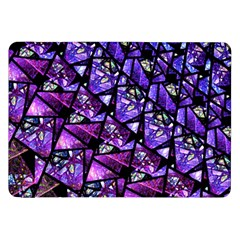 Blue Purple Glass Samsung Galaxy Tab 8 9  P7300 Flip Case