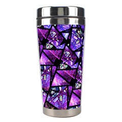 Blue Purple Glass Stainless Steel Travel Tumbler