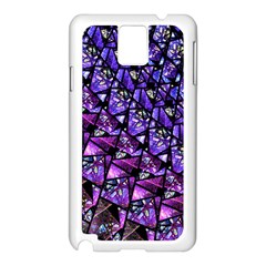 Blue purple Glass Samsung Galaxy Note 3 N9005 Case (White)