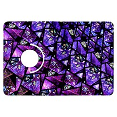 Blue purple Glass Kindle Fire HDX Flip 360 Case