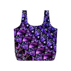 Blue purple Glass Reusable Bag (S)
