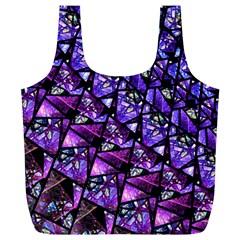 Blue purple Glass Reusable Bag (XL)