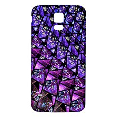 Blue Purple Glass Samsung Galaxy S5 Back Case (white)