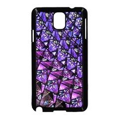 Blue purple Glass Samsung Galaxy Note 3 Neo Hardshell Case (Black)