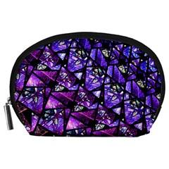 Blue purple Glass Accessory Pouch (Large)