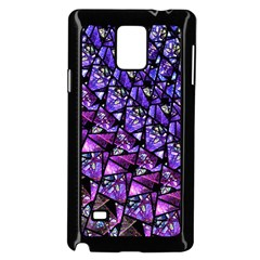 Blue purple Glass Samsung Galaxy Note 4 Case (Black)