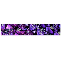 Blue purple Glass Flano Scarf (Large)