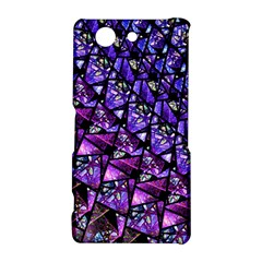 Blue purple Glass Sony Xperia Z3 Compact Hardshell Case