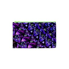 Blue Purple Glass Cosmetic Bag (xs)