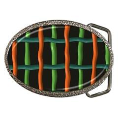 Orange green wires Belt Buckle
