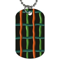 Orange Green Wires Dog Tag (two Sides)