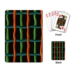 Orange Green Wires Playing Cards Single Design