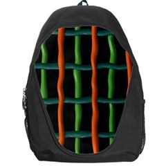Orange Green Wires Backpack Bag
