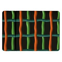Orange Green Wires Samsung Galaxy Tab 8 9  P7300 Flip Case