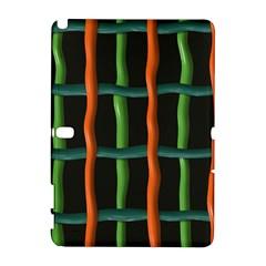 Orange green wires Samsung Galaxy Note 10.1 (P600) Hardshell Case