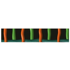 Orange Green Wires Flano Scarf