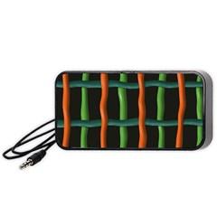 Orange Green Wires Portable Speaker