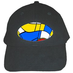 Colorful Distorted Shapes Black Cap