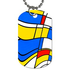 Colorful Distorted Shapes Dog Tag (two Sides)