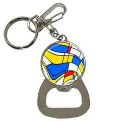Colorful Distorted Shapes Bottle Opener Key Chain