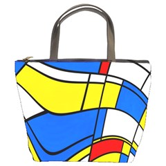 Colorful Distorted Shapes Bucket Bag