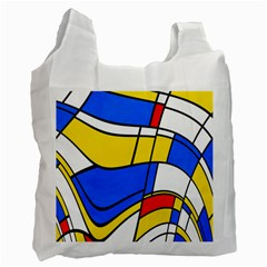 Colorful Distorted Shapes Recycle Bag (one Side)