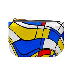 Colorful Distorted Shapes Mini Coin Purse
