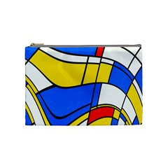 Colorful Distorted Shapes Cosmetic Bag (medium)