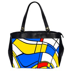 Colorful Distorted Shapes Oversize Office Handbag (2 Sides)
