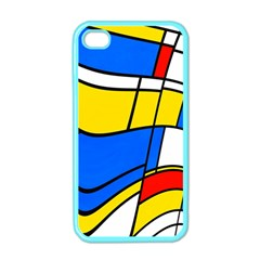 Colorful Distorted Shapes Apple Iphone 4 Case (color)