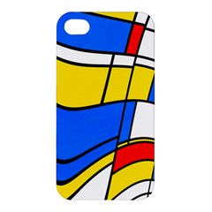 Colorful Distorted Shapes Apple Iphone 4/4s Premium Hardshell Case