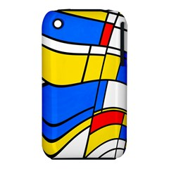 Colorful distorted shapes Apple iPhone 3G/3GS Hardshell Case (PC+Silicone)