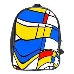 Colorful Distorted Shapes School Bag (xl)