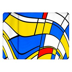 Colorful Distorted Shapes Samsung Galaxy Tab 10 1  P7500 Flip Case