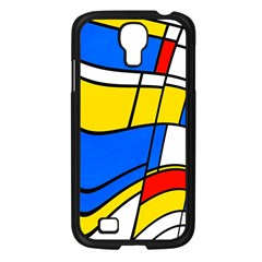 Colorful Distorted Shapes Samsung Galaxy S4 I9500/ I9505 Case (black)